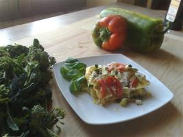 Pasta with vegetarian sauce