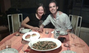 Cooking Class Lia et Angelos-Ines with her boyfriend-Sept 2014
